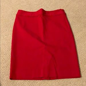 The limited exact stretch red skirt size 6